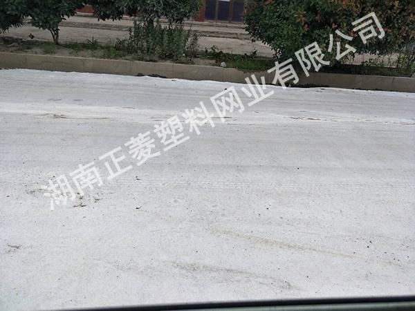 湖南岳阳汨罗县国道翻新使用土工布案例